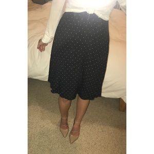 NEW Loft Polka Dot A-Line Flowy Skirt